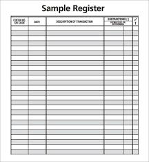 Check Transaction Register Printable Business Checkbook Register Printable Https Sourcetemplate Com