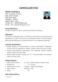 Resume Templates Instrument Commissioning Engineer Examples Rare