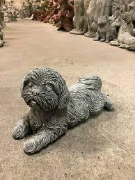 shih tzu dog ornament laying down