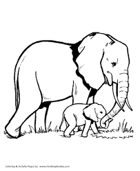 Animal Coloring Wild Animal Coloring Pages Elephant Family Coloring Page