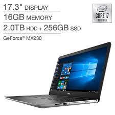 Dell Inspiron 17 Laptop - 10th Gen Intel Core i7-1065G7 - GeForce MX230 -  1080p