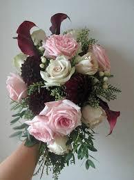 garden rose bouquet. Plain Rose Dahlia And Garden Rose Bridal Bouquet Inside E