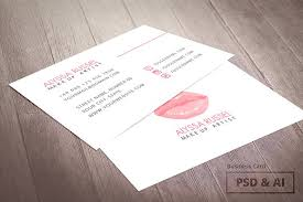 business card template makeup artist templates creative