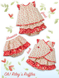 Baby Dress Patterns Enchanting Kwik Sew 48 Oh Riley's Ruffles Baby Dresses