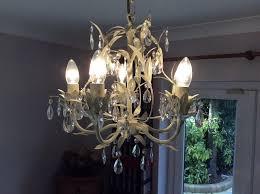 laura ashley 5 arm chandalier with bulbs
