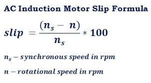 formula to calculate slip difference slip of an induction motor