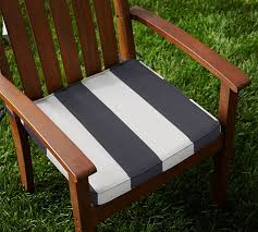 Sunbrella Piped Outdoor Dining Chair Cushion Stripe