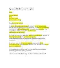Proposal Letter For Sponsorship Sample For Event Samples Of Sponsorship Proposals Sponsorship Proposal Letter