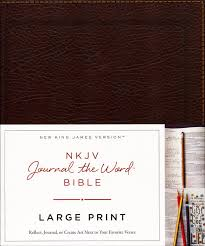 Nkjv Journal The Word Bible Large Print Bonded Leather Brown Red Letter Edition