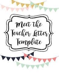 Meet The Teacher Letter Templates Meet The Teacher Letter Template Letter To Teacher Meet