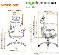 enjoy office chair dimensions