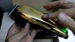 Nhá hàng chiếc tông đơ màu vàng cực đẹp sở hữu bộ lưỡi kép barber - YouTube