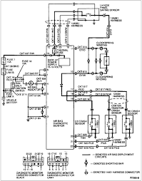 Airbag wiring diagram with blueprint