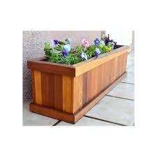 wooden tree planter box
