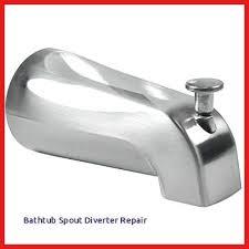 bathtub spout diverter repair delta tub shower diverter repair