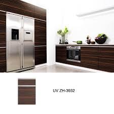 australia standard glossy wood grain kitchen cabinet zh3932