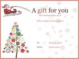 Christmas Gift Certificate Templates Printable Editable