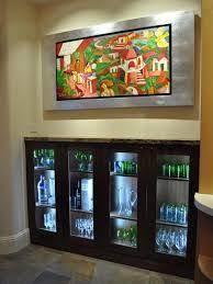 image display cabinet lighting fixtures. Kitchen Display Cabinet With Glass Doors And In-Cabinet Lighting Image Fixtures S