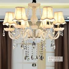 shade chandelier lighting. Classic Pure White 6 Heads Rustic Iron Glass Chandeliers Light Fabric Lamp Shade Candle Chandelier Lustre Para Sala-in From Lights Lighting -