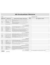 5s Evaluation Review Form 5s Program Auditing Enna Com