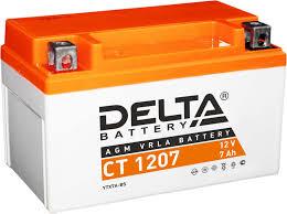 <b>Аккумулятор</b> для мототехники <b>Delta CT</b> 1207 — купить в ...
