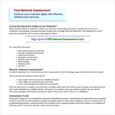 sample network proposal sample network assessment template 9 free documents in pdf
