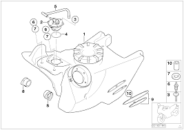 Fuel tank attaching parts