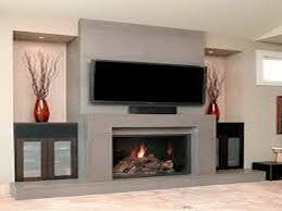 fireplace mantel decor with tv