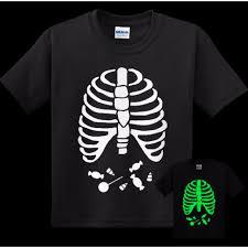 Spirit Halloween Size Chart Glow In The Dark Youth Skeleton Candy Halloween Shirt For Kids Ghoul Ghostly Top Halloween Spirit Halloween Kids Top Skeleton