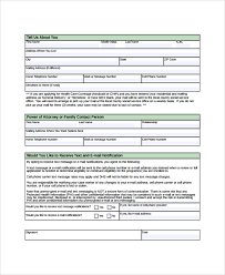 8 Sample Medicare Application Forms Sample Templates