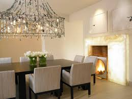 fireplace lighting. mediterranean dining room by amy noel design fireplace lighting