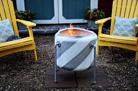 old washing machine drum into a firepit