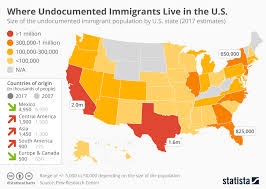 South America Population Chart Chart Where Do Undocumented Immigrants Live In The U S