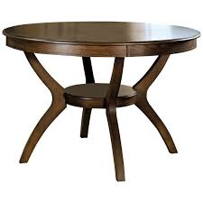 modern classic 48 inch round dining table in dark walnut wood finish