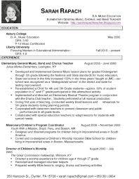 Resume Examples Resume Template Resume Job Teacher Sle Music