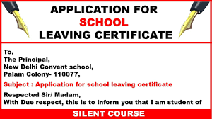 How To Write An Application To The Principal For School Leaving