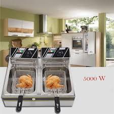 qoo10 6 12 l electric countertop deep fryer dual tank commercial restaurant men s bags sho