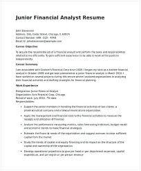 Junior Financial Analyst Resume In Word 1 Financial Analyst Resume