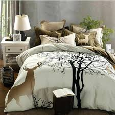 deer twin bedding cartoon comforter sets tree deer print thick bedding set sanding cotton deer quilt