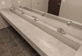 likeable commercial bathroom sinks and counters at trough custom standard by eko living
