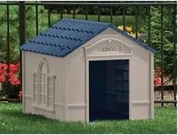 large dog house plastic outdoor durable all weather kennel pet shelter doghouse