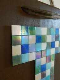 monogrammed ceramic tile wall art