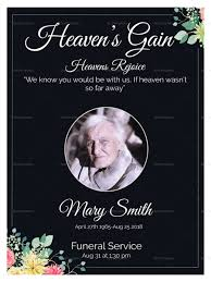 Funeral Invitation Templates Eulogy Funeral Invitation Card Design Template In Word PSD Publisher 6