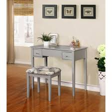 linon home decor 2 piece silver vanity set 98135sil01 the home depot