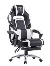 topsky high back racing style pu leather computer gaming office chair blue ergonomic reclining design with