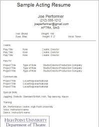 Theatre Resume Template Adorable Theatre Resume Template Fresh 28 Best Acting Resume Template Psd