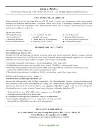 Food And Beverage Resume Examples Newest Director Of Food And Beverage Resume Sample And Manager 1