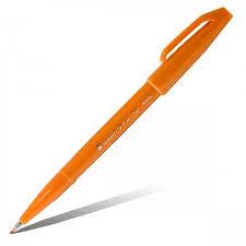 <b>Фломастер</b>-<b>кисть Pentel Brush</b> Sign Pen SES15C-F оранжевый