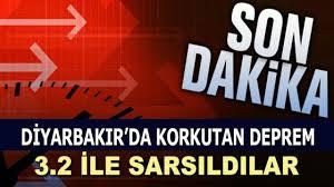 Diyarbakır'da Korkutan Deprem - Diyarbakır Son Dakika Deprem Haberleri