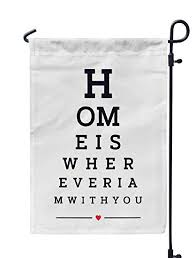 Amazon Com Soopat Typography Seasonal Flag Eye Chart Wall